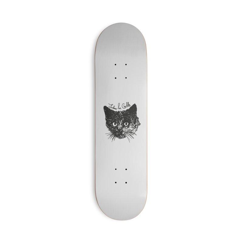 J'adore La Chatte Accessories Deck Only Skateboard by chevsy's Artist Shop