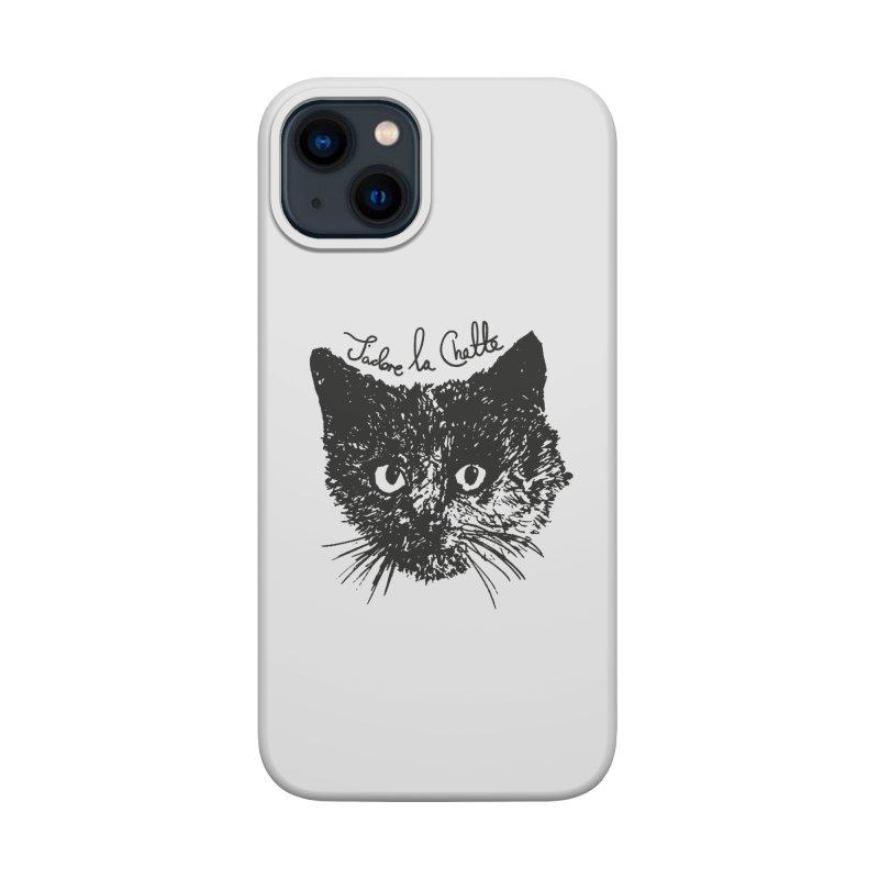 J'adore La Chatte Accessories Phone Case by chevsy's Artist Shop