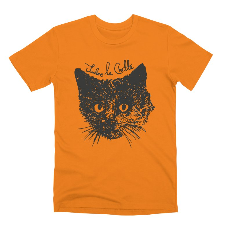 J'adore La Chatte Men's T-Shirt by chevsy's Artist Shop