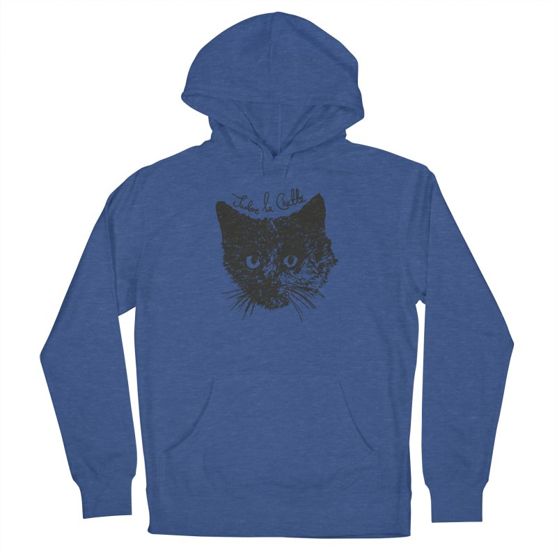 J'adore La Chatte Women's French Terry Pullover Hoody by chevsy's Artist Shop