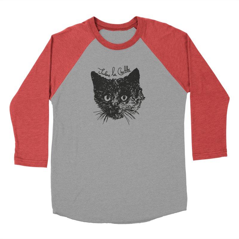 J'adore La Chatte Women's Baseball Triblend Longsleeve T-Shirt by chevsy's Artist Shop
