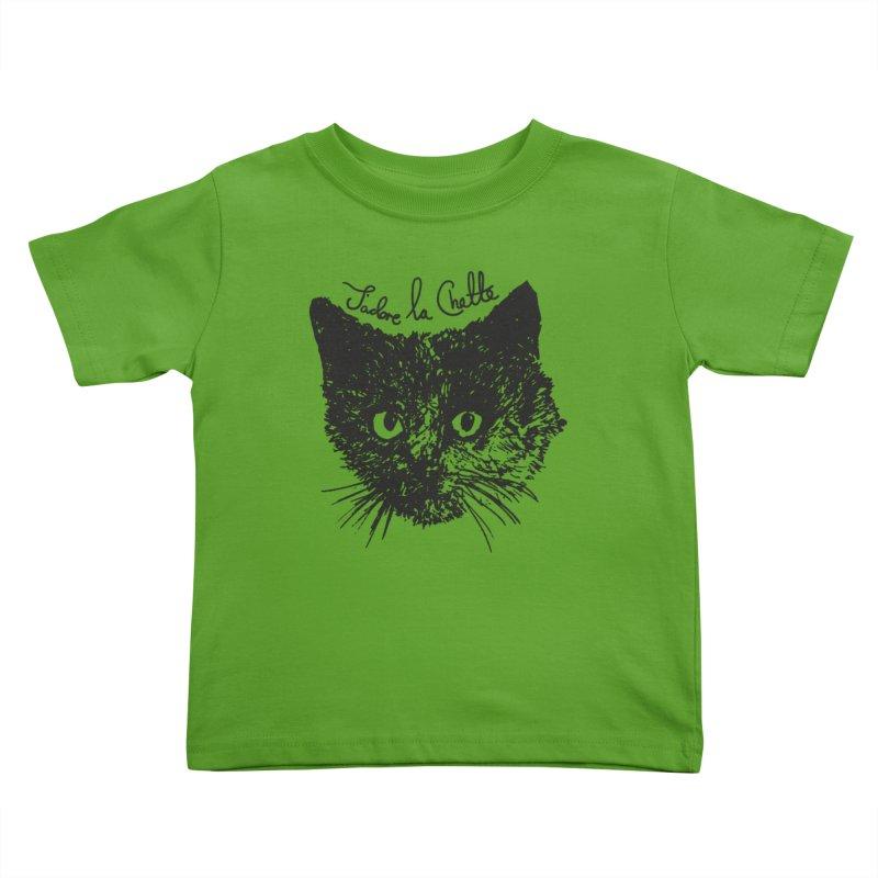 J'adore La Chatte Kids Toddler T-Shirt by chevsy's Artist Shop