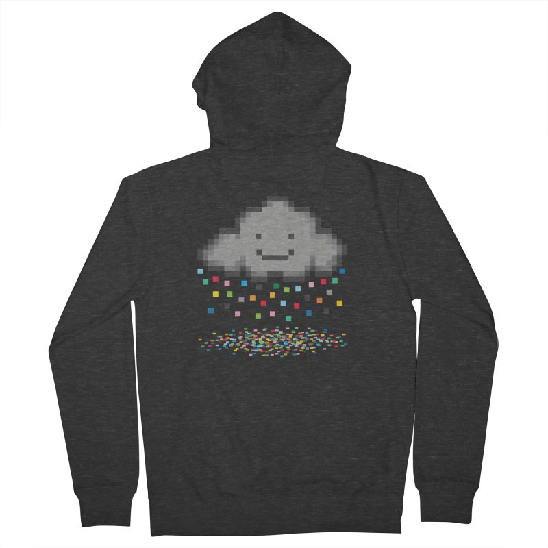 Creative Cloud Men's French Terry Zip-Up Hoody by chevsy's Artist Shop