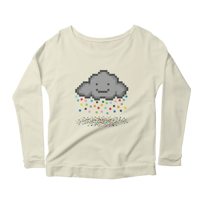 Creative Cloud Women's Scoop Neck Longsleeve T-Shirt by chevsy's Artist Shop