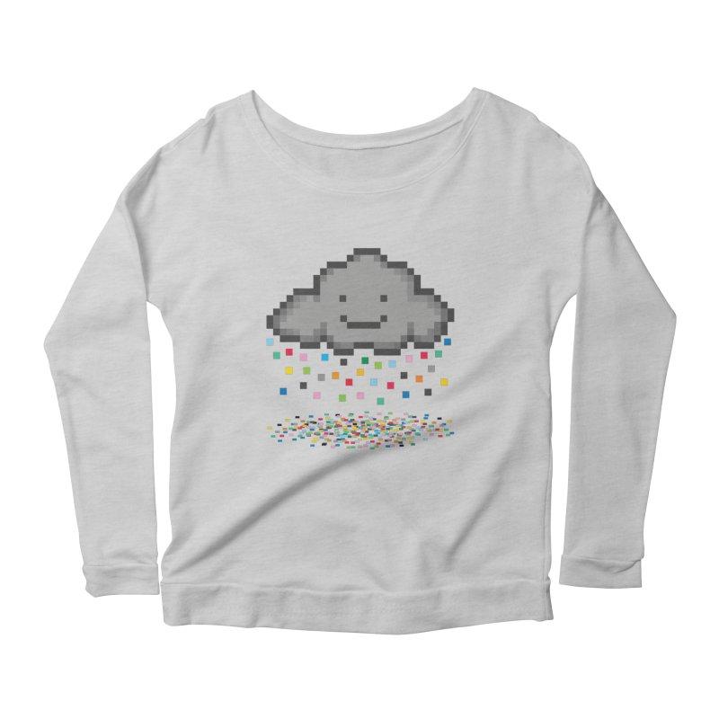 Creative Cloud Women's Longsleeve Scoopneck  by chevsy's Artist Shop