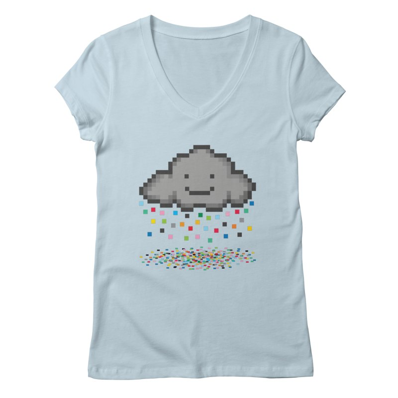 Creative Cloud Women's V-Neck by chevsy's Artist Shop