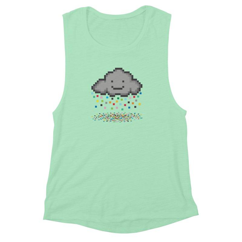 Creative Cloud Women's Muscle Tank by chevsy's Artist Shop