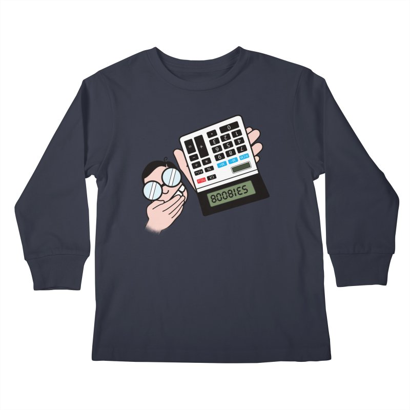 Nerds Will Be Nerds Kids Longsleeve T-Shirt by chevsy's Artist Shop