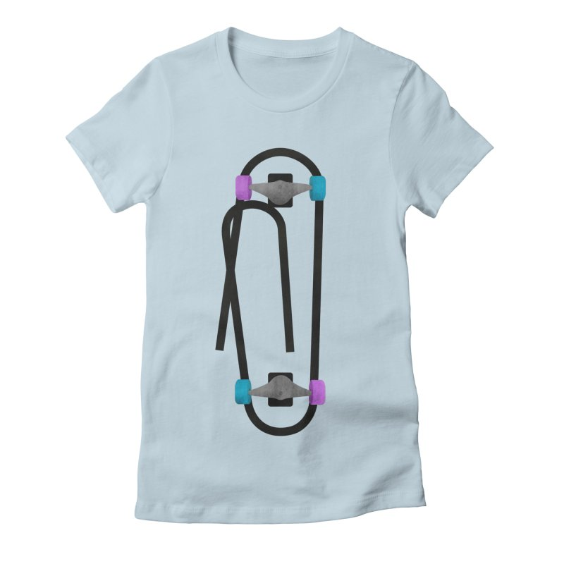 Clipboard Women's Fitted T-Shirt by chevsy's Artist Shop