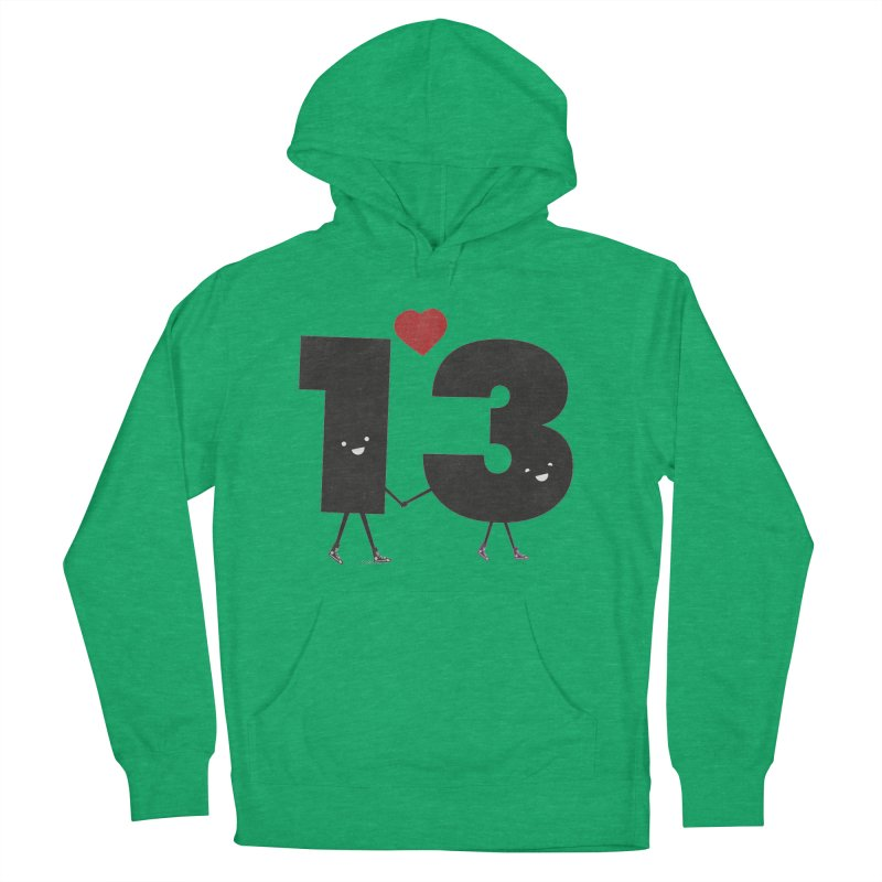 Lucky in Love Women's French Terry Pullover Hoody by chevsy's Artist Shop