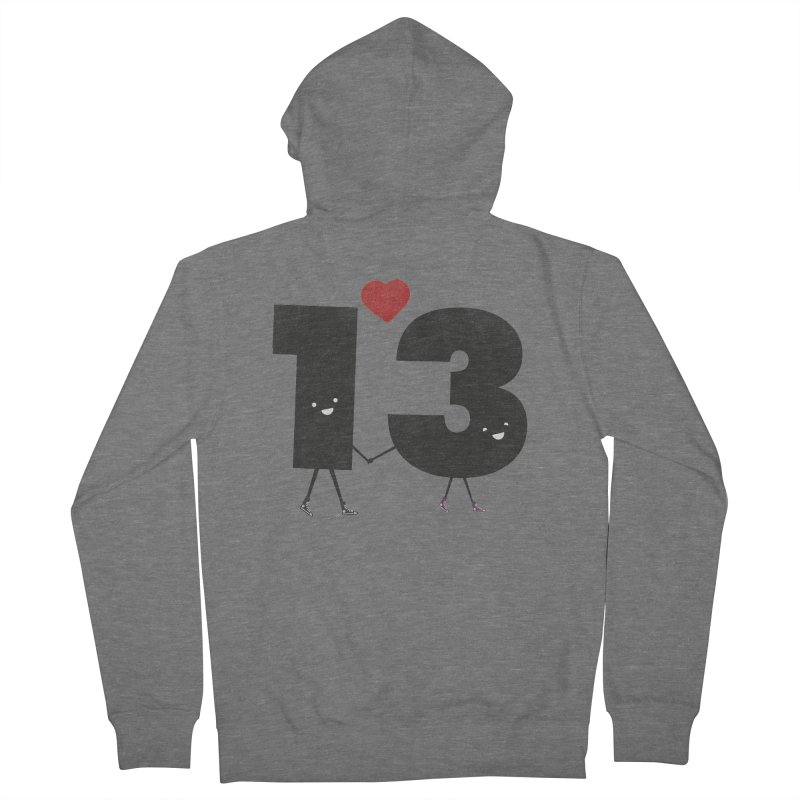 Lucky in Love Women's French Terry Zip-Up Hoody by chevsy's Artist Shop