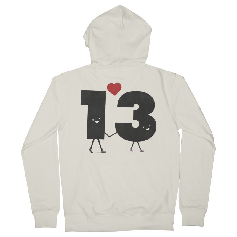 Lucky in Love Men's French Terry Zip-Up Hoody by chevsy's Artist Shop
