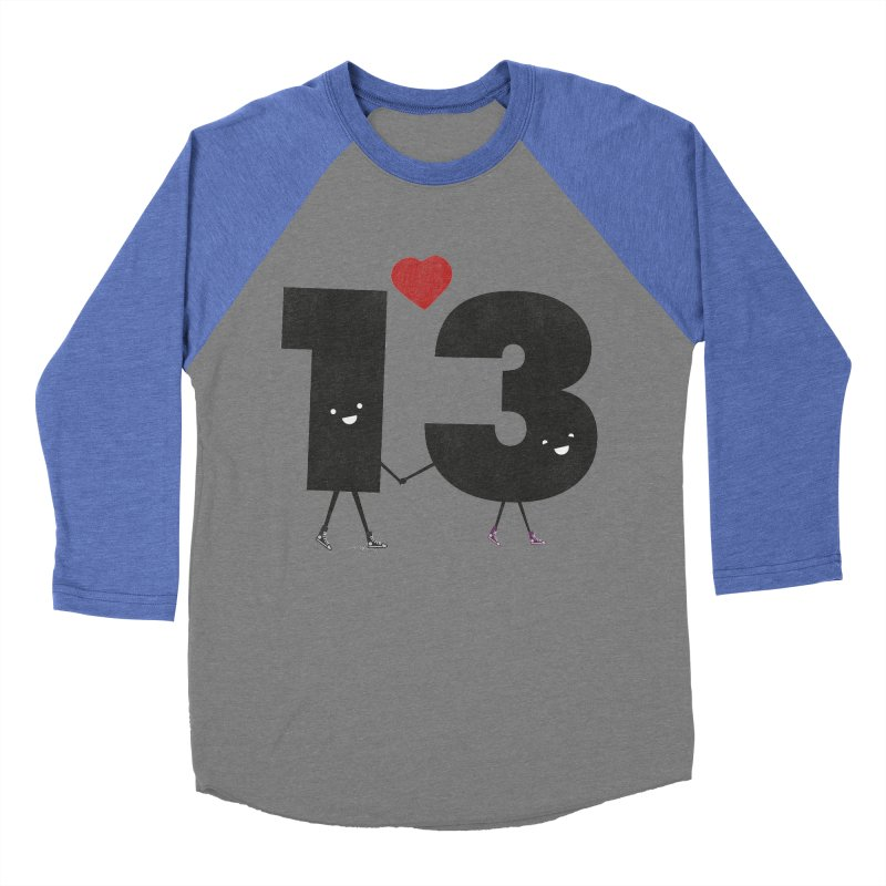 Lucky in Love Women's Baseball Triblend Longsleeve T-Shirt by chevsy's Artist Shop