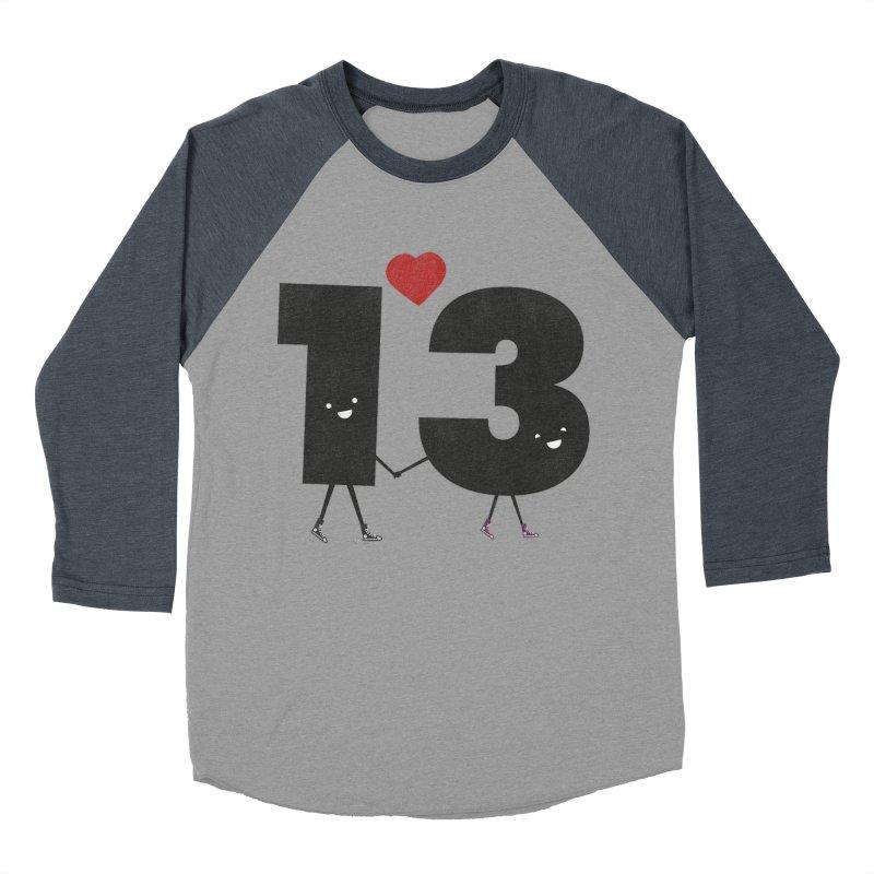 Lucky in Love Men's Baseball Triblend T-Shirt by chevsy's Artist Shop