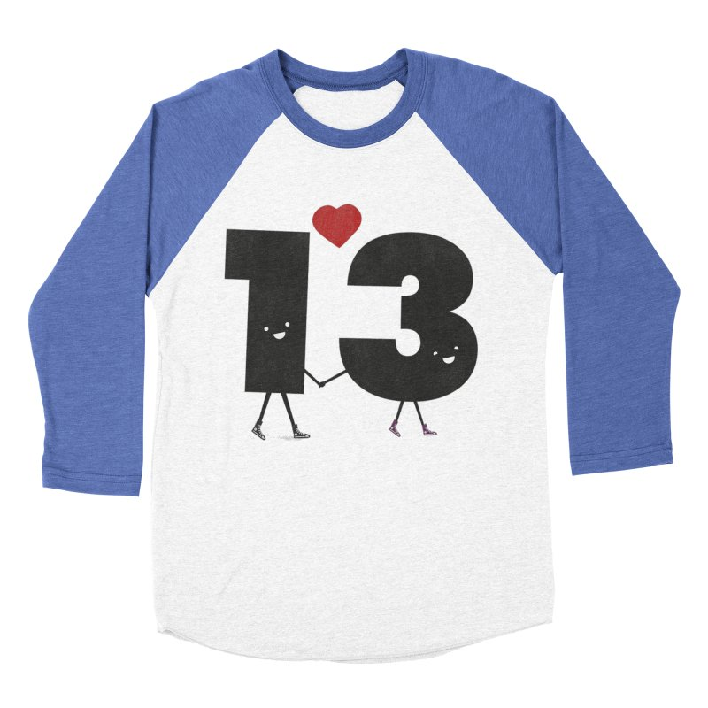Lucky in Love Men's Baseball Triblend T-Shirt by chevsy's Artist Shop