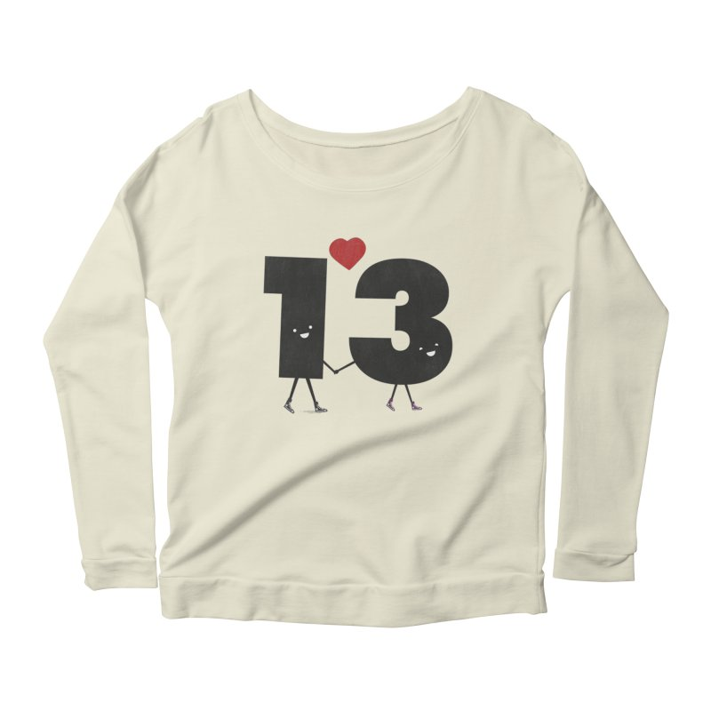 Lucky in Love Women's Longsleeve Scoopneck  by chevsy's Artist Shop
