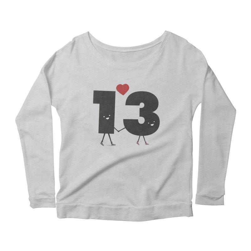 Lucky in Love Women's Scoop Neck Longsleeve T-Shirt by chevsy's Artist Shop