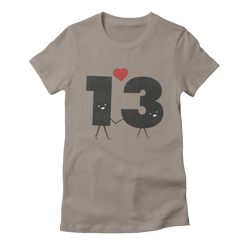 Lucky in Love Women's Fitted T-Shirt by chevsy's Artist Shop