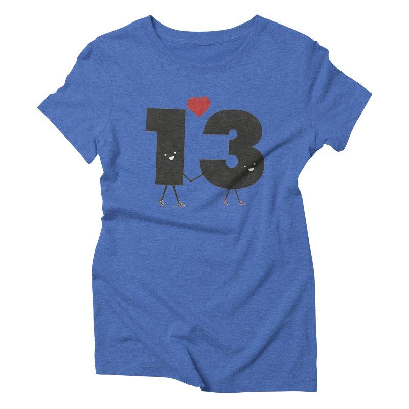 Lucky in Love Women's Triblend T-shirt by chevsy's Artist Shop