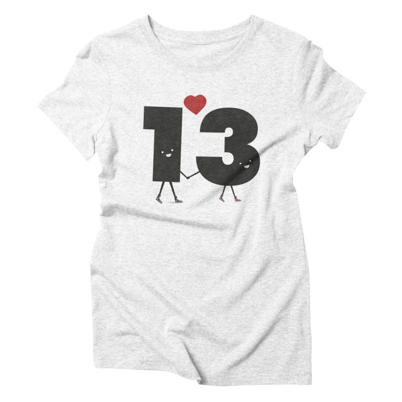 Lucky in Love Women's Triblend T-shirt by chevsy's Artist Shop