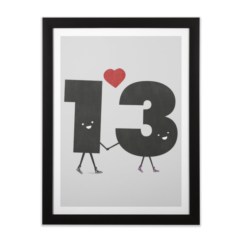 Lucky in Love Home Framed Fine Art Print by chevsy's Artist Shop