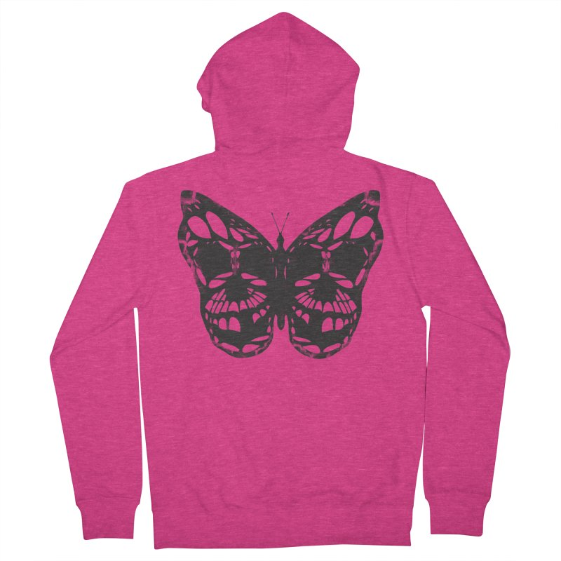 Butterfly of Death Women's French Terry Zip-Up Hoody by chevsy's Artist Shop