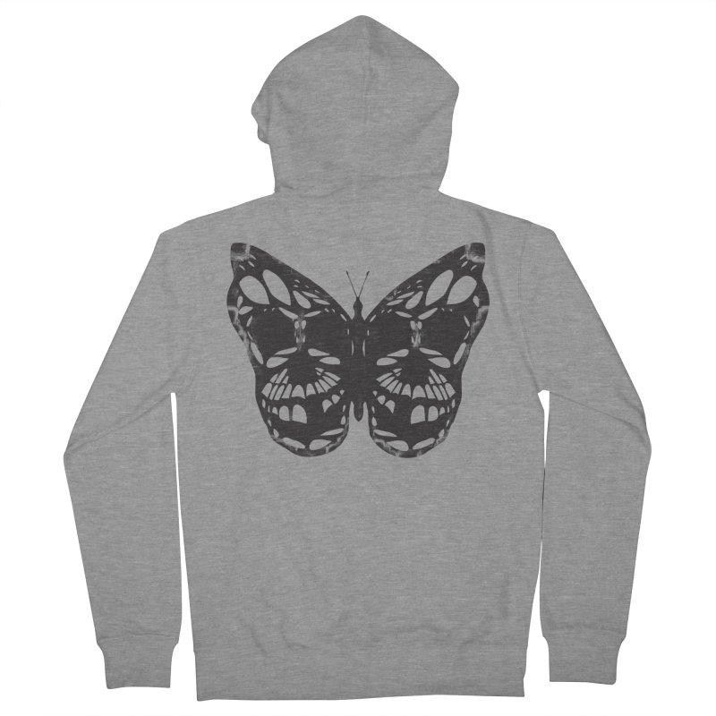 Butterfly of Death Men's Zip-Up Hoody by chevsy's Artist Shop