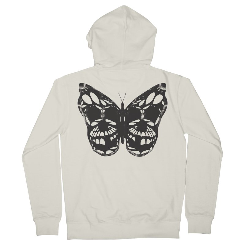 Butterfly of Death Men's French Terry Zip-Up Hoody by chevsy's Artist Shop