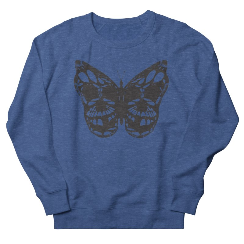 Butterfly of Death Women's French Terry Sweatshirt by chevsy's Artist Shop