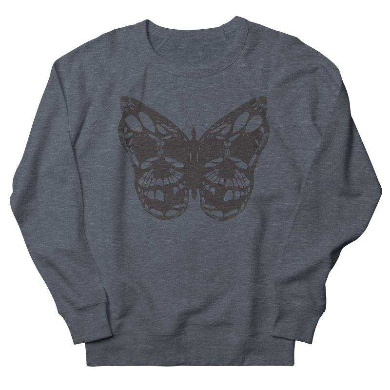 Butterfly of Death Men's French Terry Sweatshirt by chevsy's Artist Shop