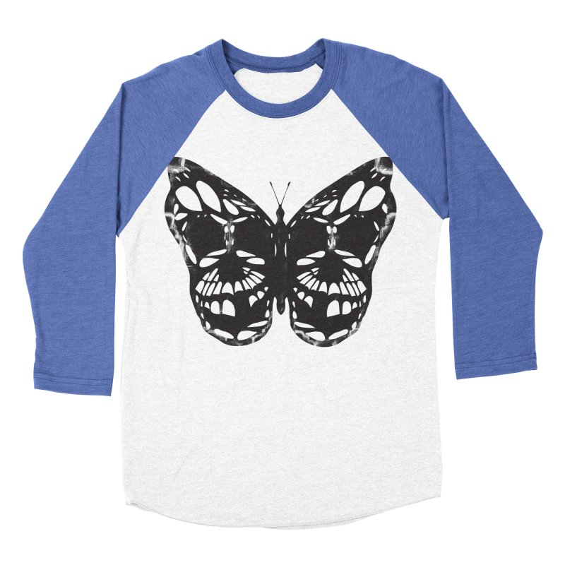 Butterfly of Death Women's Baseball Triblend Longsleeve T-Shirt by chevsy's Artist Shop