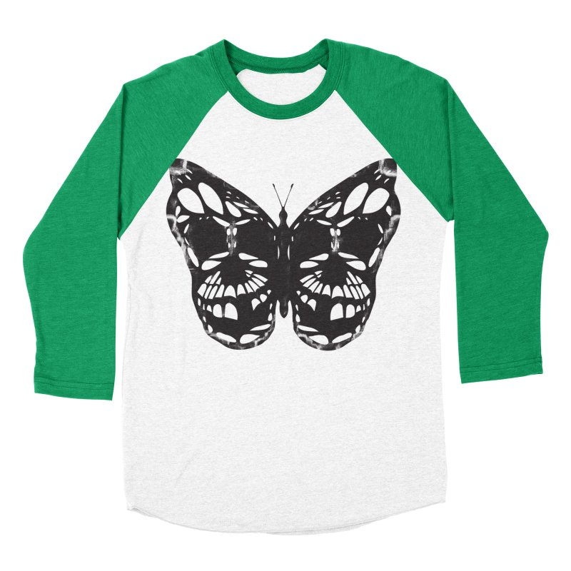 Butterfly of Death Women's Baseball Triblend Longsleeve T-Shirt by chevsy's Artist Shop