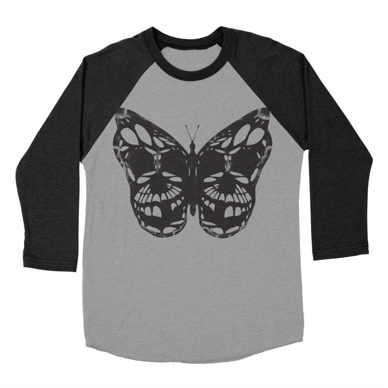 Butterfly of Death Men's Baseball Triblend Longsleeve T-Shirt by chevsy's Artist Shop