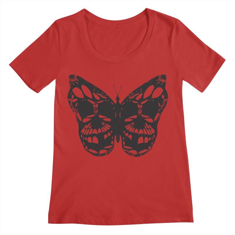 Butterfly of Death Women's Regular Scoop Neck by chevsy's Artist Shop