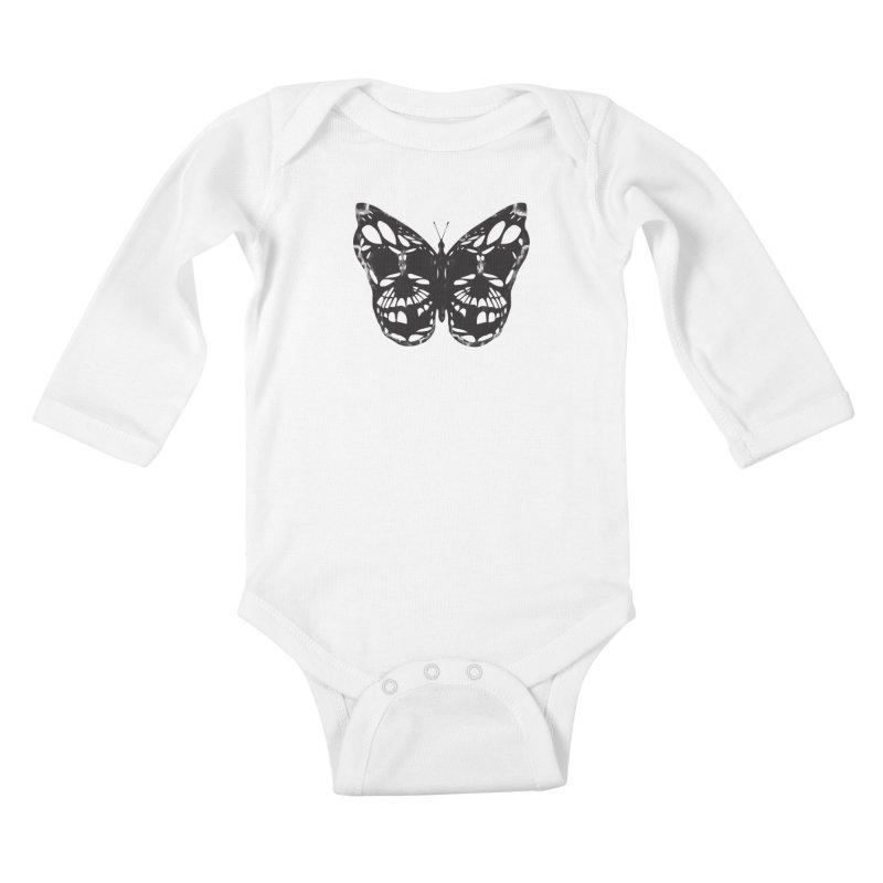 Butterfly of Death Kids Baby Longsleeve Bodysuit by chevsy's Artist Shop