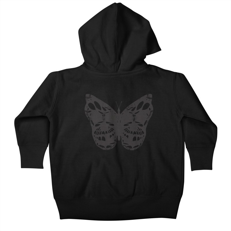 Butterfly of Death Kids Baby Zip-Up Hoody by chevsy's Artist Shop