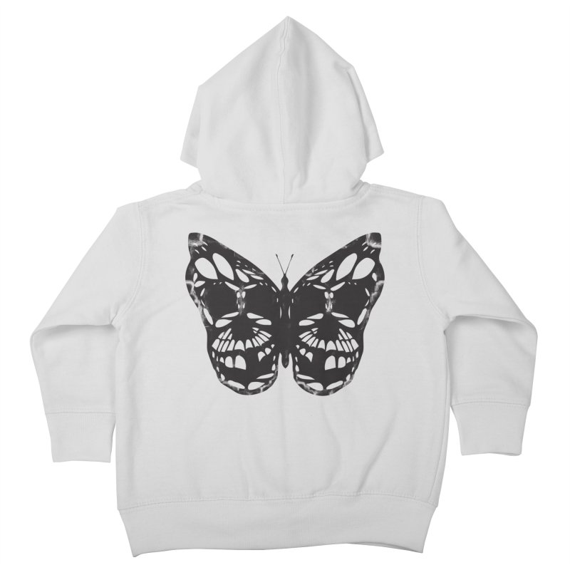 Butterfly of Death Kids Toddler Zip-Up Hoody by chevsy's Artist Shop