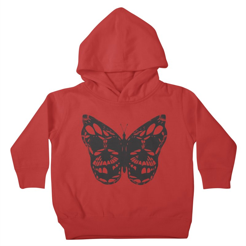 Butterfly of Death Kids Toddler Pullover Hoody by chevsy's Artist Shop