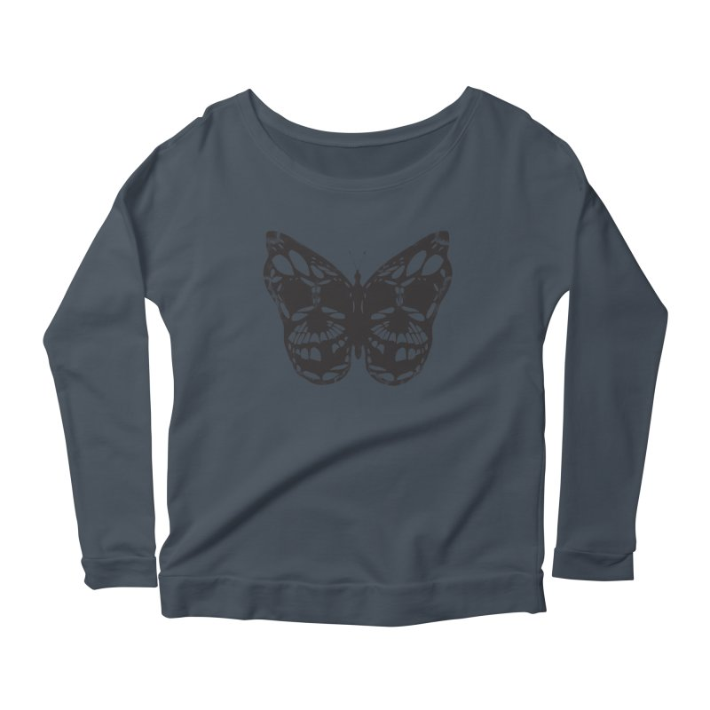 Butterfly of Death Women's Scoop Neck Longsleeve T-Shirt by chevsy's Artist Shop