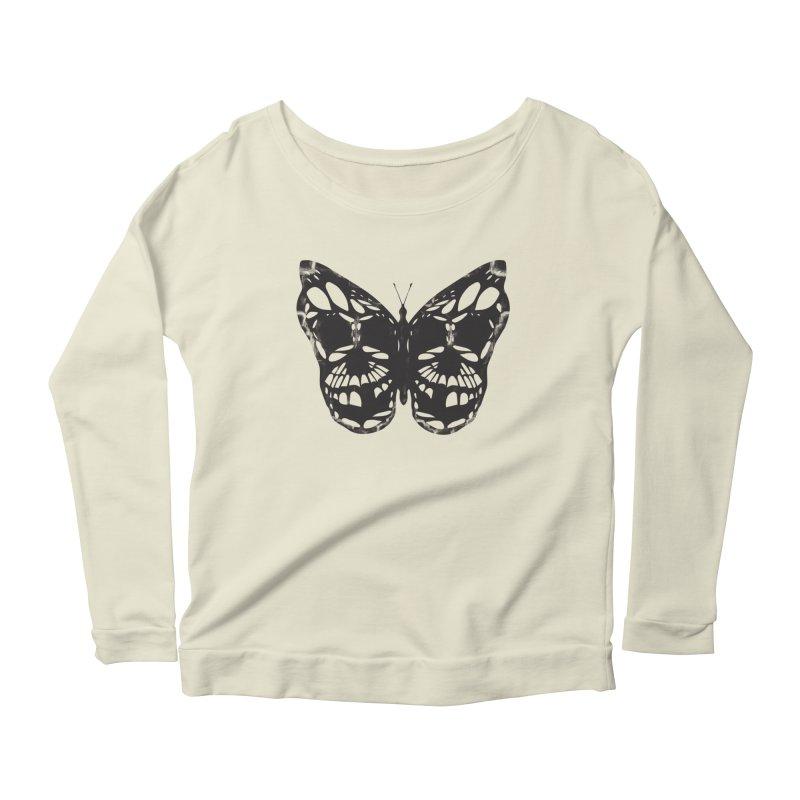Butterfly of Death Women's Scoop Neck Longsleeve T-Shirt by chevsy's Artist Shop