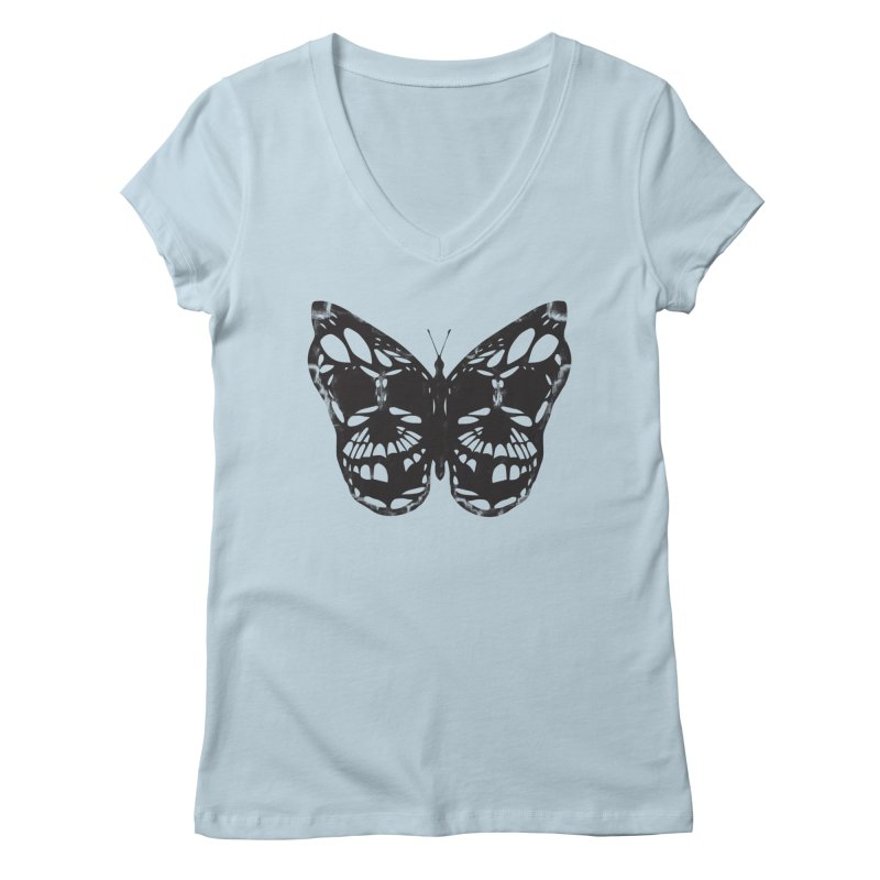 Butterfly of Death Women's V-Neck by chevsy's Artist Shop