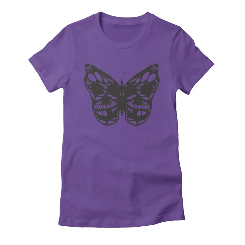 Butterfly of Death Women's Fitted T-Shirt by chevsy's Artist Shop