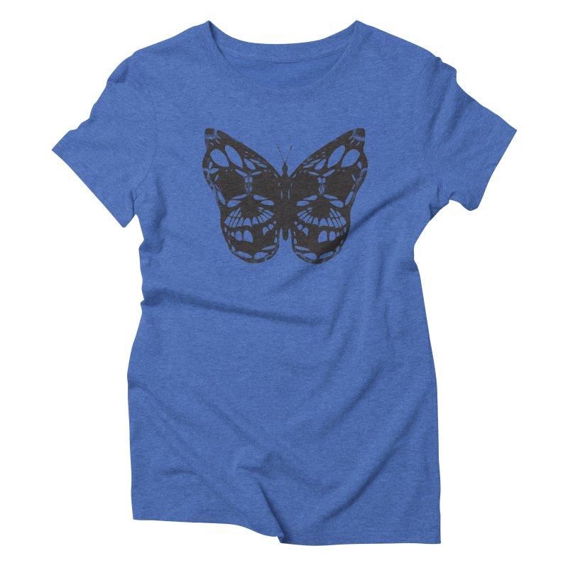 Butterfly of Death Women's Triblend T-shirt by chevsy's Artist Shop