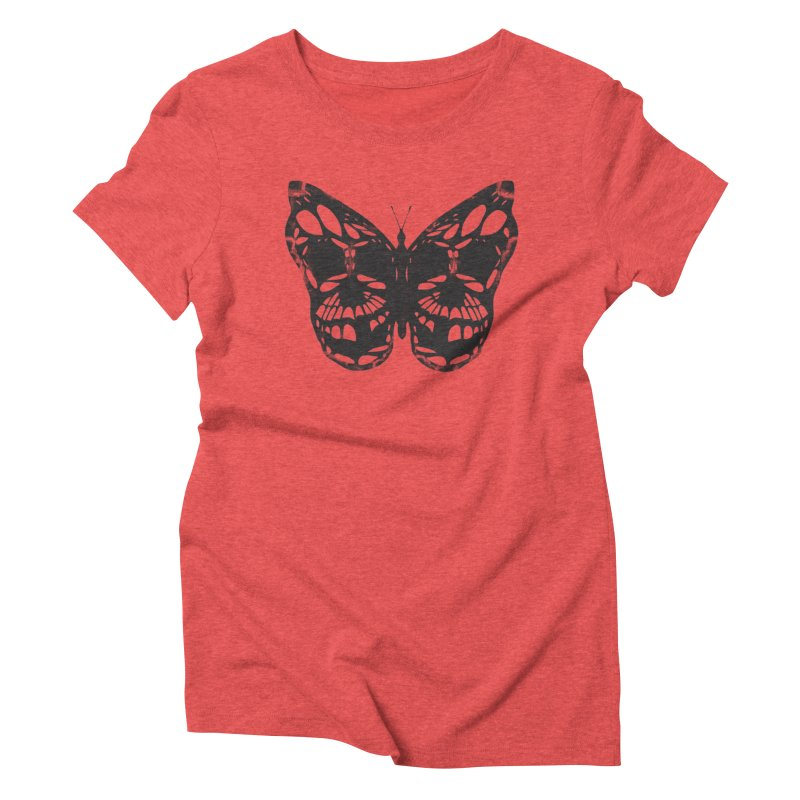 Butterfly of Death Women's Triblend T-shirt by chevsy's Artist Shop