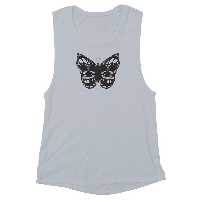 Butterfly of Death Women's Muscle Tank by chevsy's Artist Shop