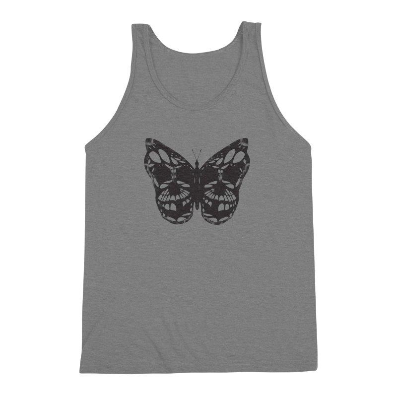 Butterfly of Death Men's Triblend Tank by chevsy's Artist Shop