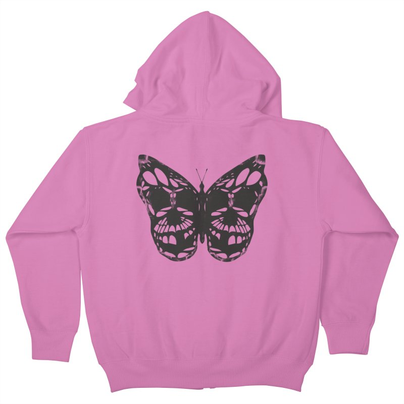 Butterfly of Death Kids Zip-Up Hoody by chevsy's Artist Shop