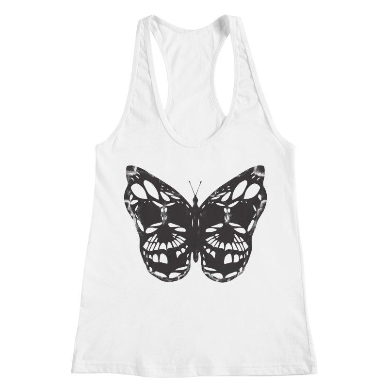 Butterfly of Death Women's Racerback Tank by chevsy's Artist Shop