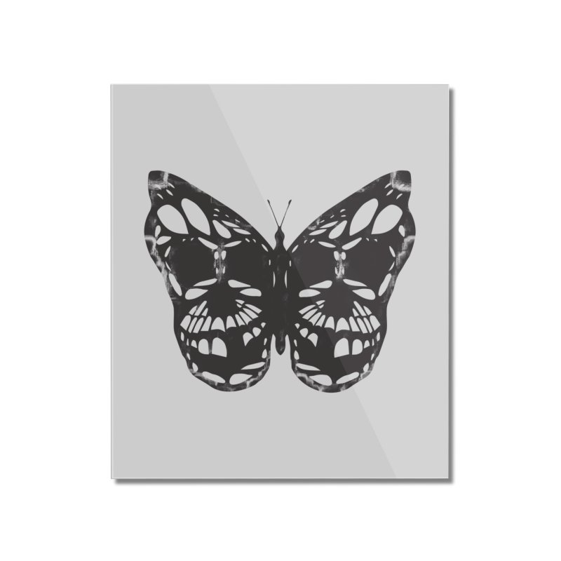 Butterfly of Death Home Mounted Acrylic Print by chevsy's Artist Shop