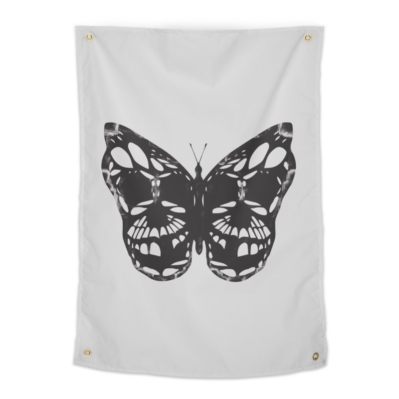 Butterfly of Death Home Tapestry by chevsy's Artist Shop